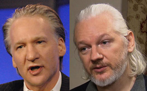 x-maher-assng-sm Dispatch: Assange Takes It To The Next Level